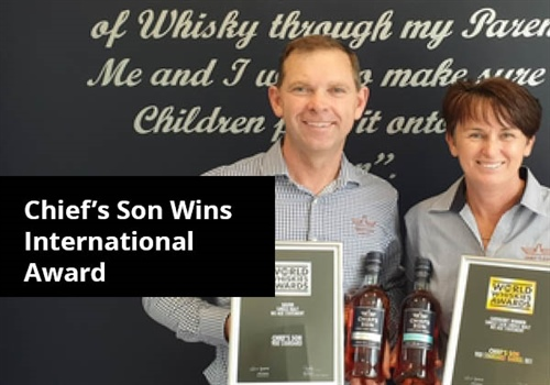 Award Winning Whisky Newcomer - Chief's Son Distillery