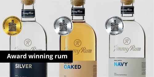 JimmyRum takes home gold and two silvers at the Australian Distilled Spirits Awards