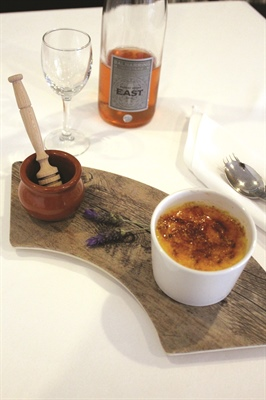 Lavender & White Chocolate Crème Brulée with Local Honey