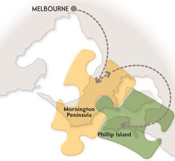 Melbourne to Phillip Island via the Mornington Peninsula